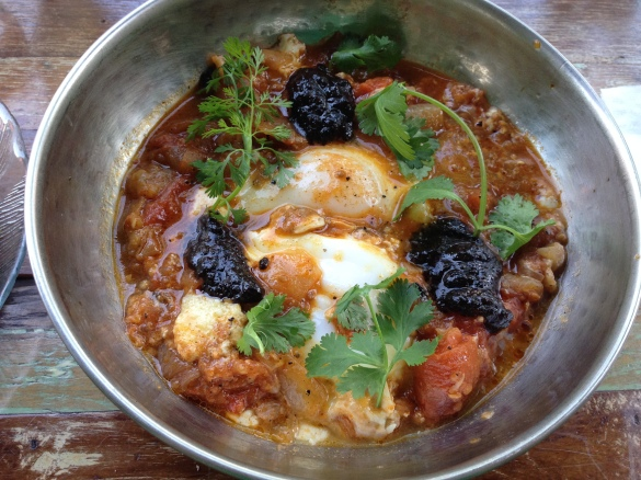 Zizi Limona's Shakshuka, the best specimen I've tried outside of Eretz Yisrael.