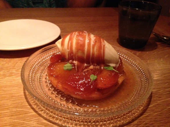 The Apricot Tart Tatin, visually stunning but too sweet for my taste.