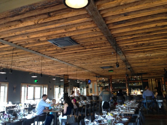 Inside the restaurant itself, a mish-mash of rustic and industrial chic.