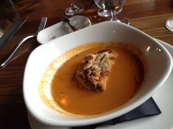 The RiverMarket Montauk Hardshell Lobster Bisque, smooth and creamy, yet packed with flavor. Also a strong vote in favor of the merits of calamari.