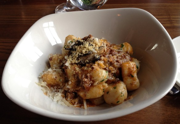 The Potato Gnocchi, another excellent pasta dish, if not exactly light fare.